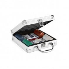 Set Poker profesional in cutie de aluminiu - Carti poker