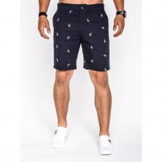 Pantaloni scurti barbati w034 bleumarin - Bermude barbati, Marime: M, L, XL, XXL, Culoare: Din imagine, Bumbac