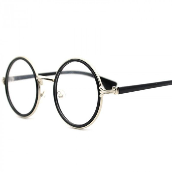 Ochelari rotunzi lentila transparenta gen unisex model retro harry potter foto mare