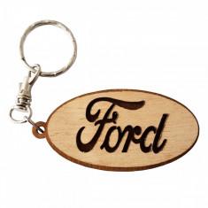 Breloc auto FORD, din lemn - Breloc Barbati Alexer