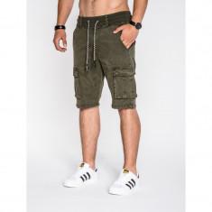 Pantaloni scurti barbati P527 verde - Bermude barbati, Marime: S, M, L, XL, XXL, Culoare: Din imagine, Bumbac
