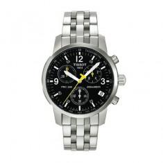 Ceas barbatesc Tissot PRC200 Clasic Cadran negru, Casual, Quartz, Inox, Cronograf