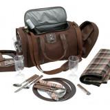 Geanta picnic pentru 4 persoane - Vesela camping Alexer, Set vesela