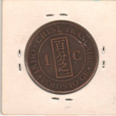 SV * Indo China Franceza / Indonezia (ex colonie Franta)  1  CENT  1887
