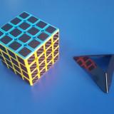 Cub Rubik 4x4x4 TFS Carbon Fiber 62, 5mm - Jocuri Logica si inteligenta