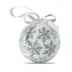 Glob de Craciun cu finisare perlata argintiu - Ornamente Craciun