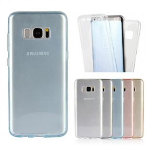 Husa silicon 360° protectie fata + spate pentru Samsung Galaxy S8 / S8 plus