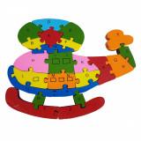 Puzzle ELICOPTER, din lemn, Alexer