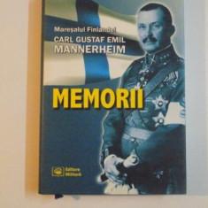 MEMORII , ED. a II a de CARL GUSTAF , EMIL MANNERHEIM , 2003