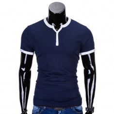 Tricou barbati s651 bleumarin, Marime: S, L, XL, XXL, Culoare: Din imagine, Maneca scurta, Bumbac