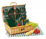 Cos picnic pentru 4 persoane Green Park, Set vesela, Alexer