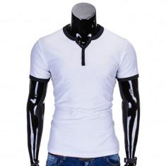 Tricou barbati s651 alb, Marime: S, M, L, XL, XXL, Culoare: Din imagine, Maneca scurta, Bumbac
