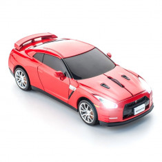 Mouse Nissan GT-R gold flake red wireless, Optica