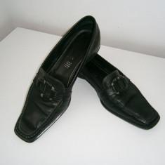 Pantofi dama GEOX, negri, piele, marimea 37! - Pantof dama Geox, Culoare: Negru, Cu talpa joasa
