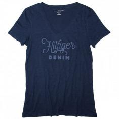 Tricou TOMMY HILFIGER - Tricouri Dama, Femei - 100% AUTENTIC - Tricou dama Tommy Hilfiger, Marime: S, Culoare: Bleumarin, Simplu, Maneca scurta, Casual