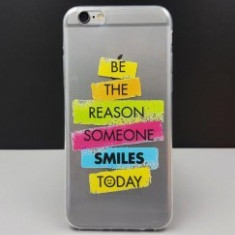 Husa Ultra Thin Design SMILES Apple iPhone 6G / 6S