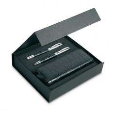 Instrumente de scris set cu model piele de crocodil IT3805-03 Alexer
