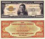 Cumpara ieftin SUA - BANCNOTA FANTASY - 1.000.000 DOLLARS (RONALD REAGAN)
