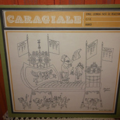 -Y-CARAGIALE -CONUL LEONIDA FATA CU REACTIUNEA CFR BUBICO   DISC VINIL LP