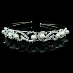 Coronita / tiara mireasa / ocazie cu cristale tip Swarovski - Tiare mireasa