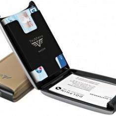 Portofel din aluminiu pentru carduri Razor de la Tru Virtu - Grey Oyster