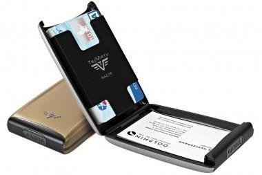 Portofel din aluminiu pentru carduri Razor de la Tru Virtu - Grey Oyster foto mare