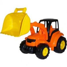 Champion Tractor cu Cupa Portocaliu - Masinuta Polesie