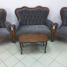 Set canapea stil baroc cu 2 scaune