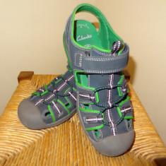 Pantofi CLARKS baieti - Pantofi copii Clarks, Culoare: Albastru, Marime: 35, Piele naturala