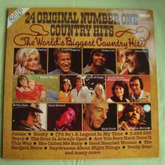 24 ORIGINAL NUMBER ONE COUNTRY HITS - Vinil 2 LP Original West Germany - Muzica Country