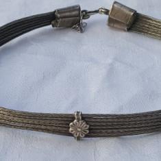 CHOKER argint TRIBAL Colier la baza Gatului impletit LAT superb VINTAGE de EFECT