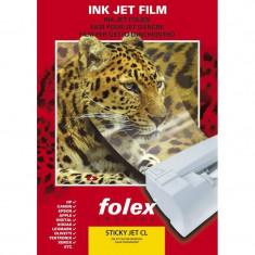 Folie Folex incolora printabila autoadeziva transparenta tip inkjet