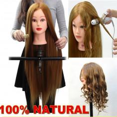 Cap practica coafor manechin frizerie par natural 100 %- SATEN