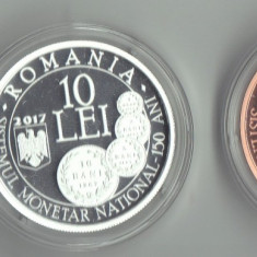 Set Carol I Aur  1+10+100 lei 2017 infiintarea Sistemului Monetar