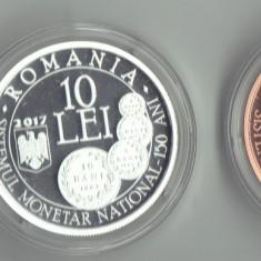 Set Carol I Aur 1+10+100 lei 2017 infiintarea Sistemului Monetar - Moneda Romania