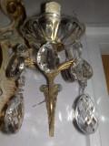 AplicalampA perete stil baroc cu cristale, Lampi