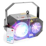 BEAMZ SWAY 3-în-1, LED JELLYBALL cu laser și un corp LED RGBW 150 MW LASE-RG LED - Masina de fum