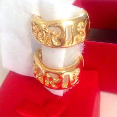 Cercei rotunzi CLIPS / bulb PARIS -  Placati cu aur galben filat 18k
