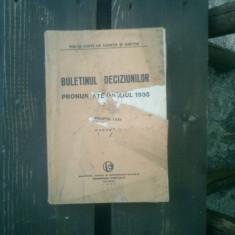 Buletinul deciziunilor pronuntate in anul 1935 volumul LXXII partea II - Carte Istoria dreptului