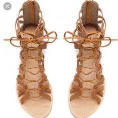 Sandale romane Zara, piele naturala, 36