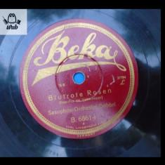 Saxophon Orchester Dobbri disc patefon / gramofon Beka B. 6861 - Muzica Jazz Altele, Alte tipuri suport muzica