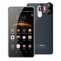 Smartphone 4G LEAGOO M8, 5, 7 inch, 16GB, 13MP, FINGERPRINT, sigilat, Negru, Neblocat, Dual SIM, Quad core
