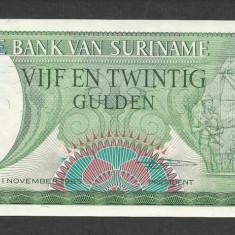 SURINAME SURINAM 25 GULDEN GULDENI 1985 UNC [1] P-127b, necirculata - bancnota america