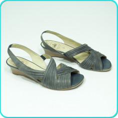DE CALITATE → Sandale dama, DIN PIELE, aerisite, comode, CAPRICE → femei | nr 39, Culoare: Gri, Piele naturala