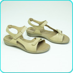DE FIRMA → Sandale dama, din piele, comode, aerisite, ECCO → femei | nr. 39, Culoare: Bej, Piele naturala