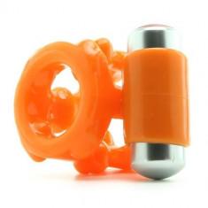Inel pentru penis vibrator portocaliu - Jucarii erotice
