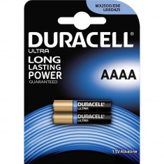 Duracell Baterie ultra alcalina AAAA 1, 5V MX2500 2 buc - Baterie Aparat foto