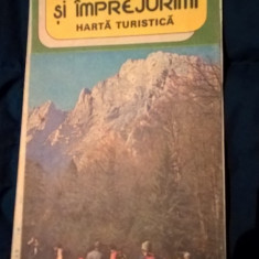 Muntii Bucegi si imprejurimi - harta turistica (cca. 1980)