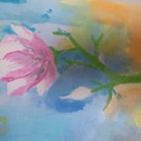 Pictura acuarela - Pictor roman, Flori, Realism