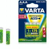 Varta Acumulator Ni-MH Micro (AAA, R03) 1, 2V 800mAh 4 bucati - Baterie Aparat foto